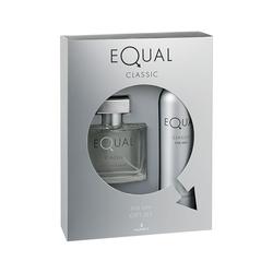 Hunca - Equal Classic Edt 75 ml Erkek Parfüm + Deodorant 150 ml Set