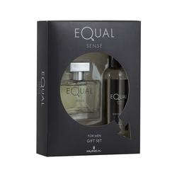 Hunca - Equal Sense Edt 75 ml Erkek Parfüm + 150 ml Vücut Spreyi Set