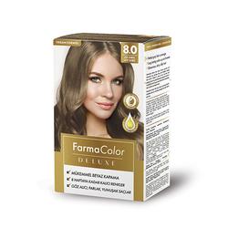 Farmasi - Farmacolor Deluxe Saç Boyası Açık Kumral 8.0