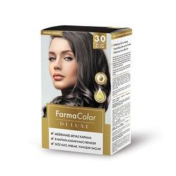Farmasi - Farmacolor Deluxe Saç Boyası Koyu Kahve 3.0
