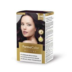 Farmasi - Farmacolor Deluxe Saç Boyası Patlıcan Moru 3.66