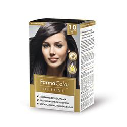 Farmasi - Farmacolor Deluxe Saç Boyası Siyah 1.0