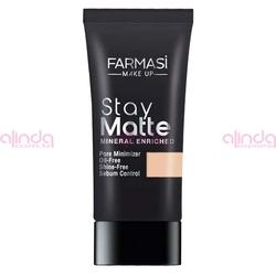 Farmasi - Farmasi Make Up Stay Matte Fondöten No:01 Light Ivory