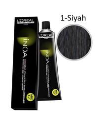 Loreal - Loreal INOA Amonyaksız Saç Boyası 1 Siyah - 60 ml