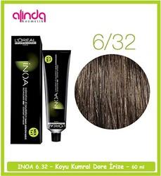 Loreal - Loreal INOA Amonyaksız Saç Boyası 6.32 Koyu Kumral Dore İrize- 60 ml